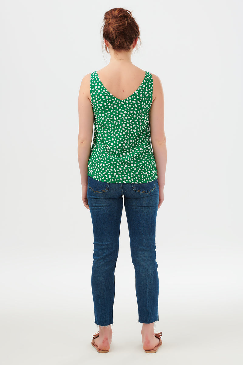 Romy Painterly Spot Strappy Top