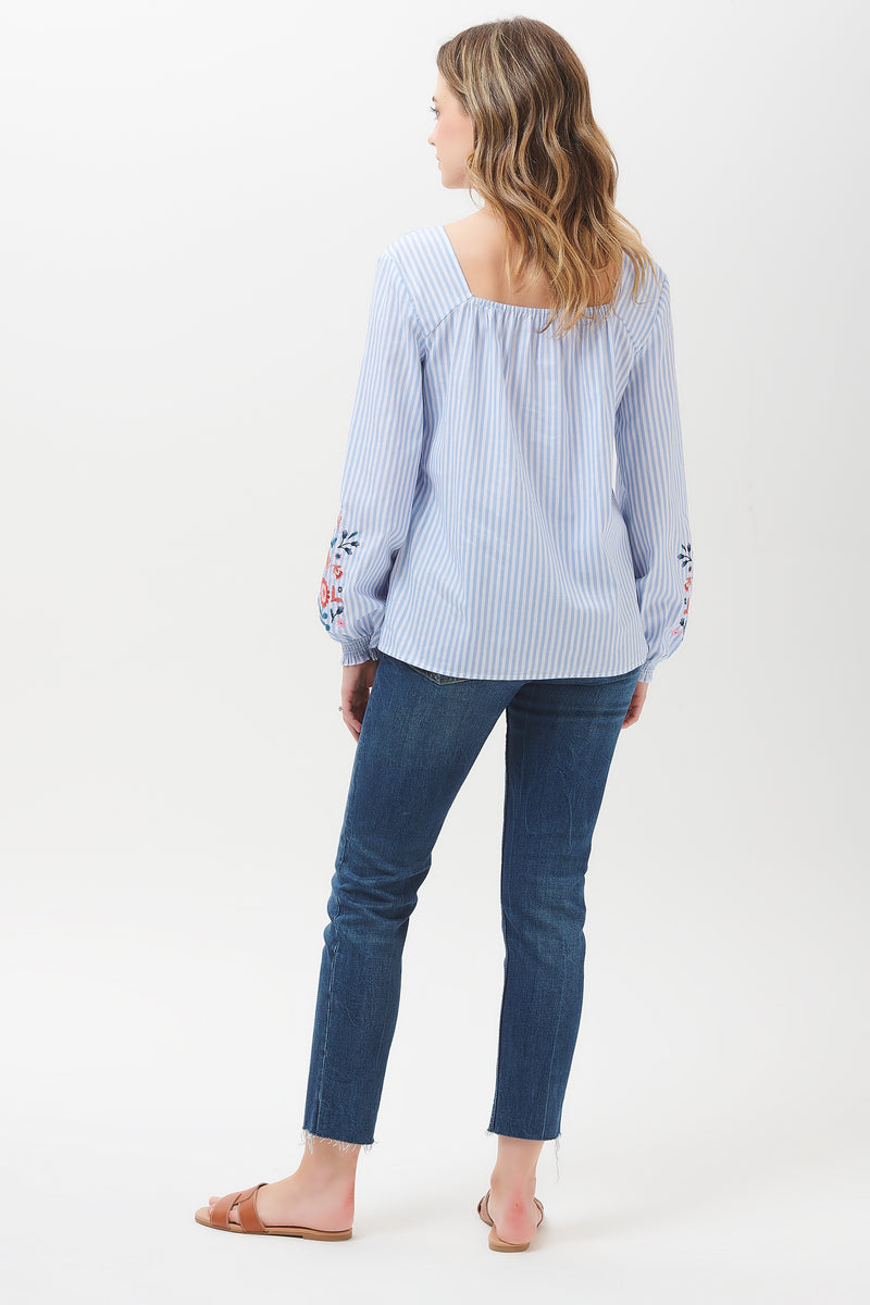 Ines Fable Flower Embroidered Top