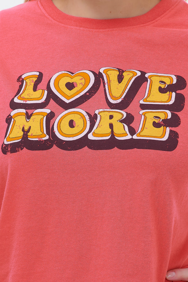 Maggie Love More T-Shirt #WearAndCare