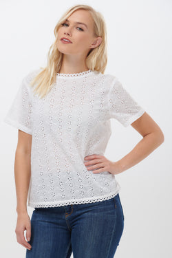 Nadine Broderie Top