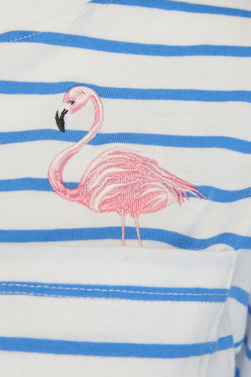 Maggie Breton Flamingo Pocket T-Shirt #wearandcare