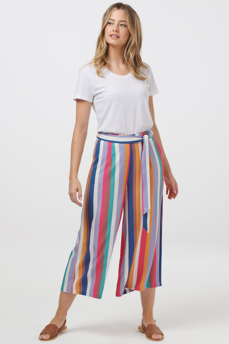 Ottilie Cruise Stripe Cropped Wide Leg Trouser