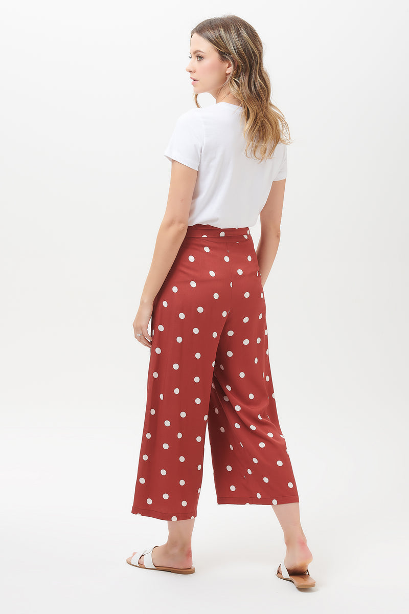 Ottilie Polka Cropped Wide Leg Trouser