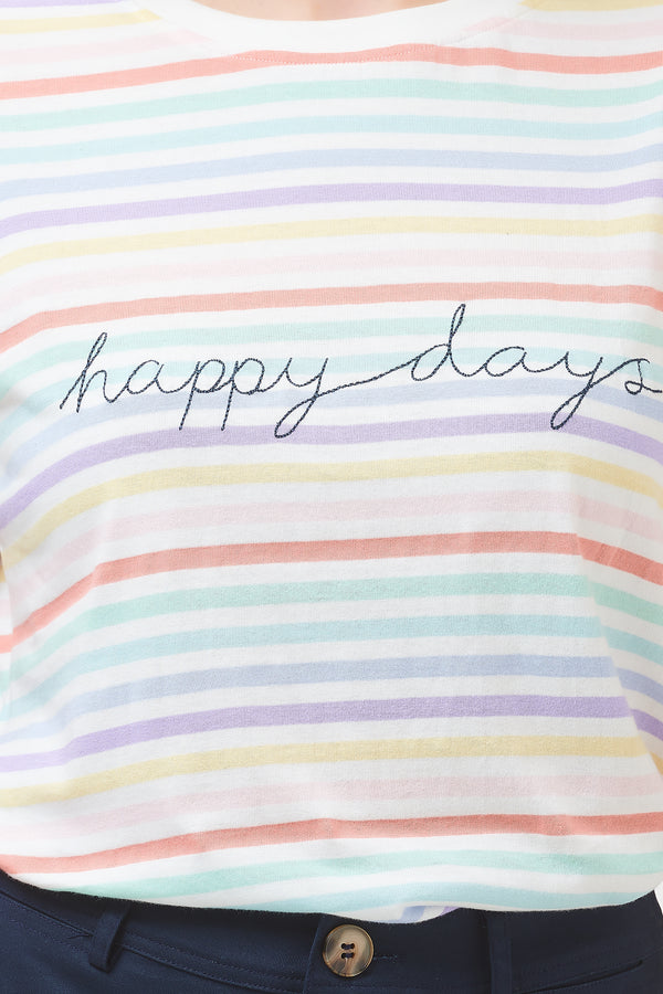 Maggie Happy Days Stripe T-shirt #WearAndCare