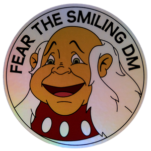 Fear the Smiling DM Holographic Sticker