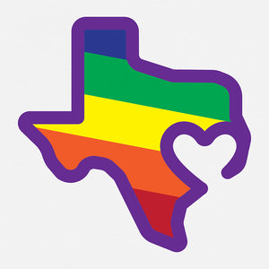 "Texas is Love 8""x8"" Print"