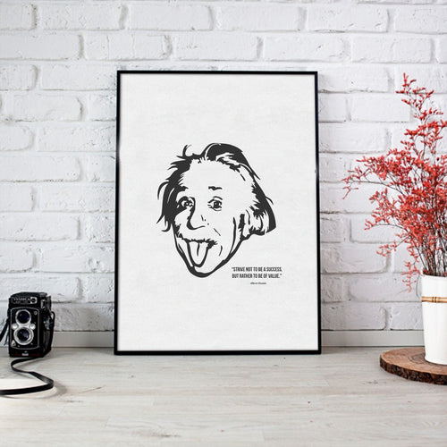 Albert Einstein Wall Paper Poster