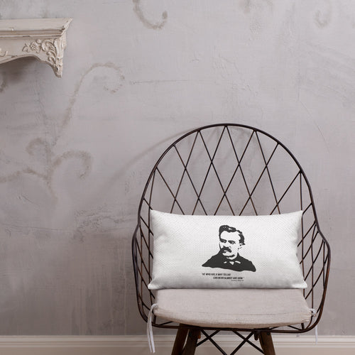 Friedrich Nietzsche Premium Throw Pillow