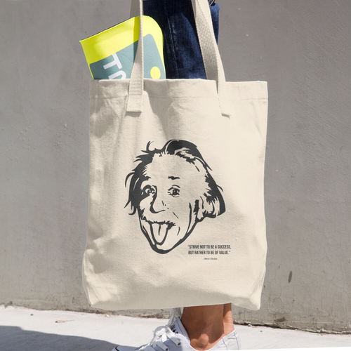 Albert Einstein Cotton Tote Bag