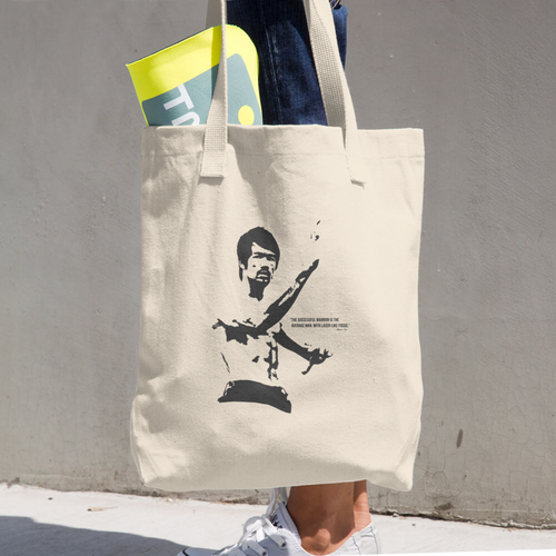 Bruce Lee Cotton Tote Bag