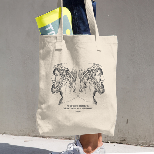 Aristotle Cotton Tote Bag