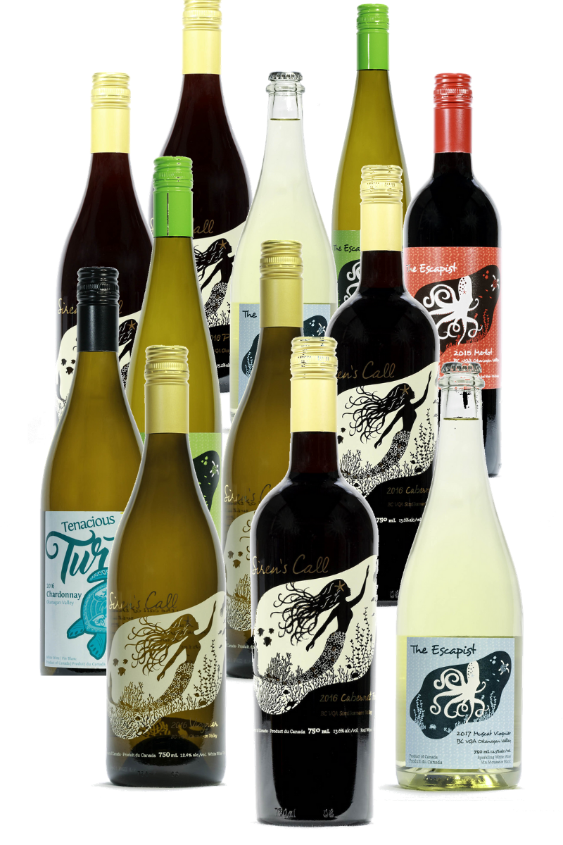 Siren's Call and The Escapist Wine Club Twelve Pack