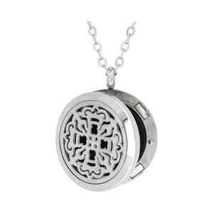 Serina & Company Ancient Cross Aromatherapy Locket Necklace