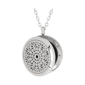 Serina & Company Stainless Steel Love Floral Pendant