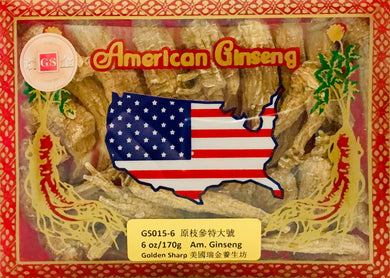 ***American Ginseng Body Root Extra Large(原枝花旗參特大號), 6oz, 買3送1