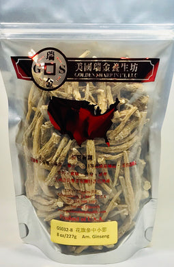 ***American Ginseng Coarse Body Medium(花旗參中小節袋裝),8oz