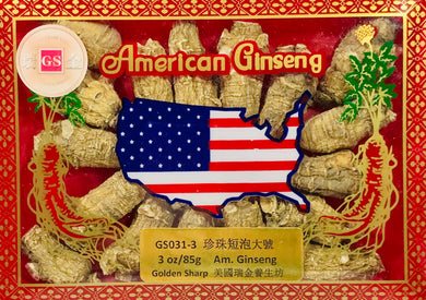 AM. Ginseng round Root L. (珍珠短泡大號),3oz