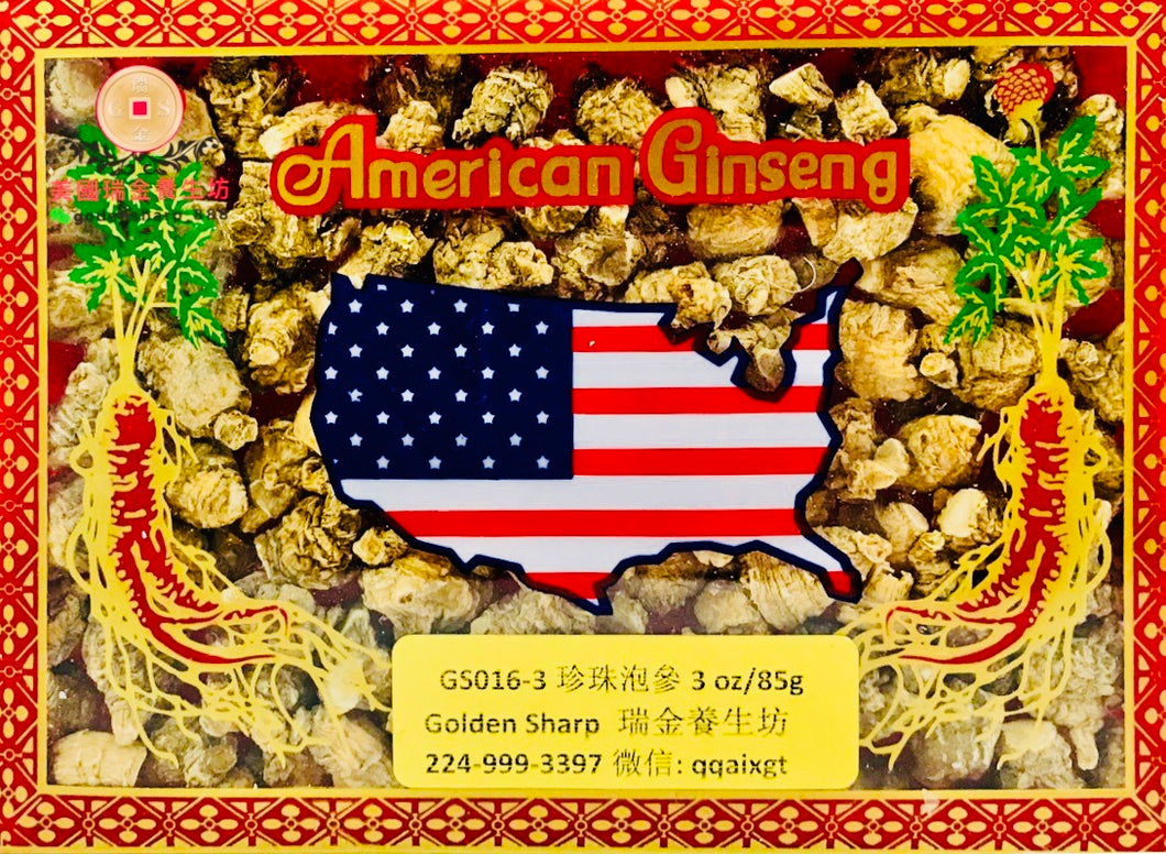 *** 精選珍珠泡參 Am. Ginseng Round Root. 3oz