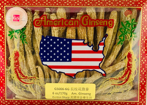 ***American Ginseng Long Root(長枝花旗參中小號), 6oz