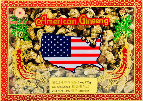 ***American Ginseng Round Root(精選珍珠泡參),6oz