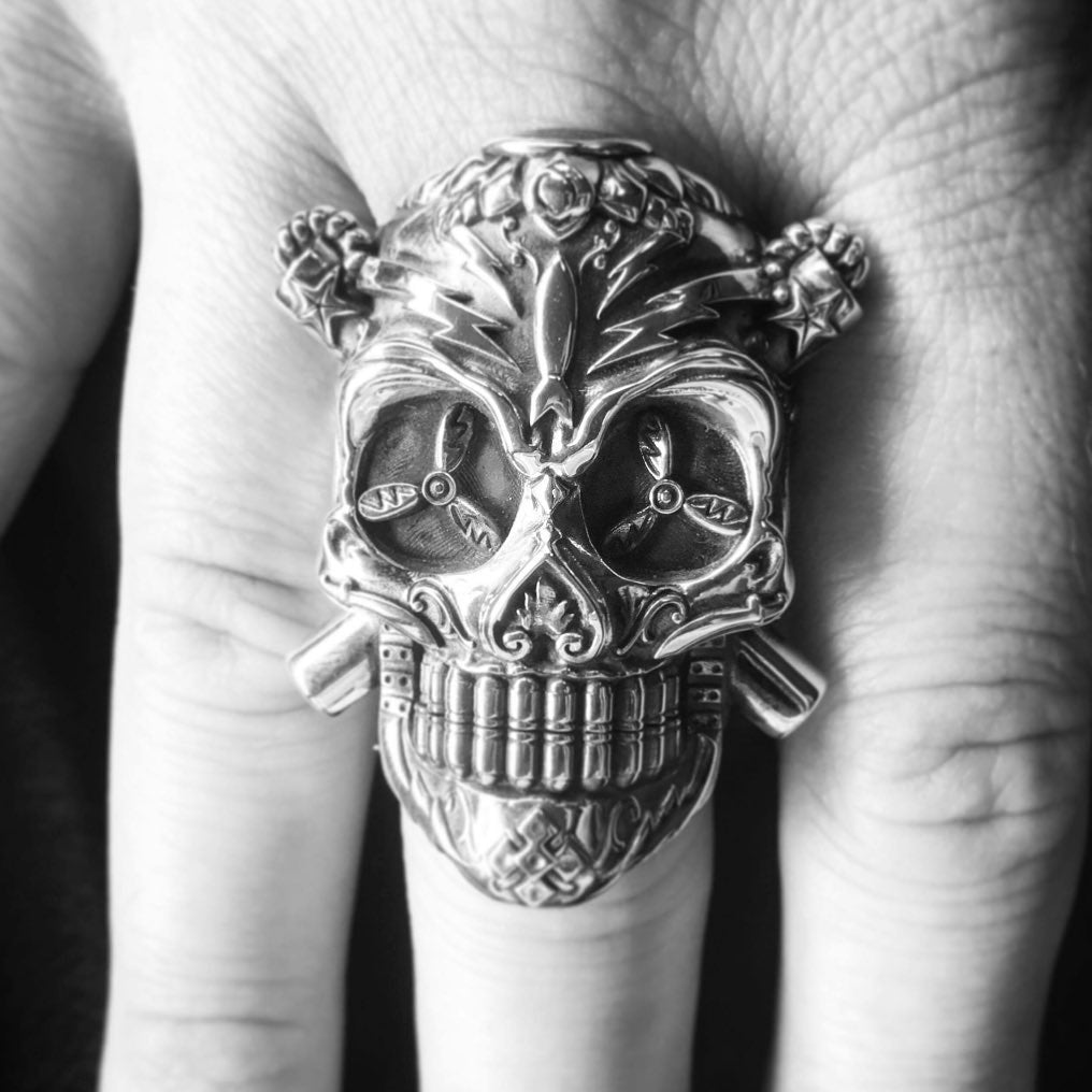 Client Rocking his Lucky Skull...