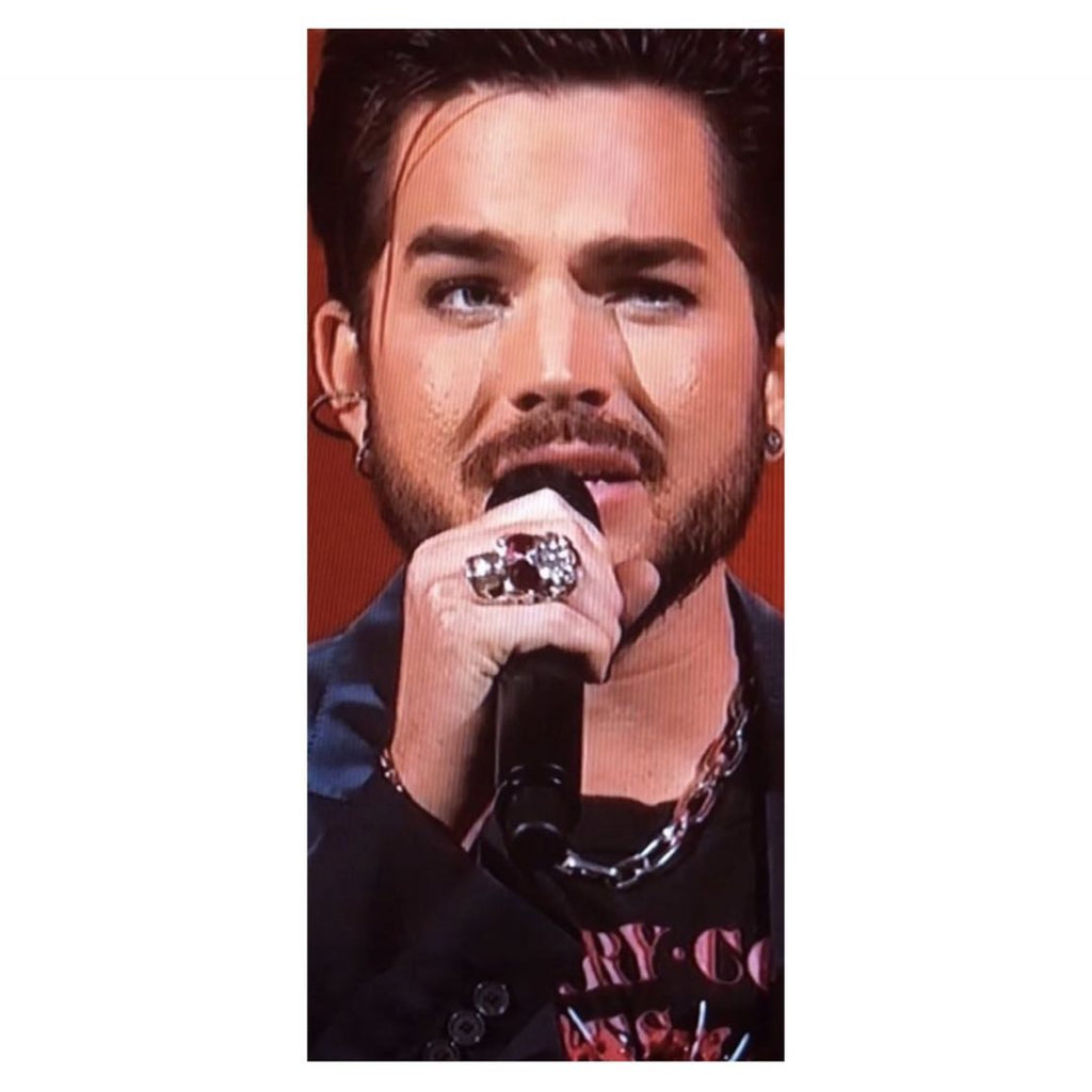 @adamlambert rocking his Diabolos Skull...