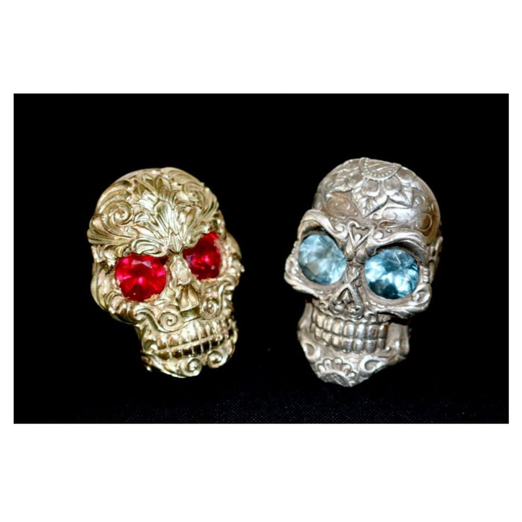 Left Gold Baroque Skull Ring...
