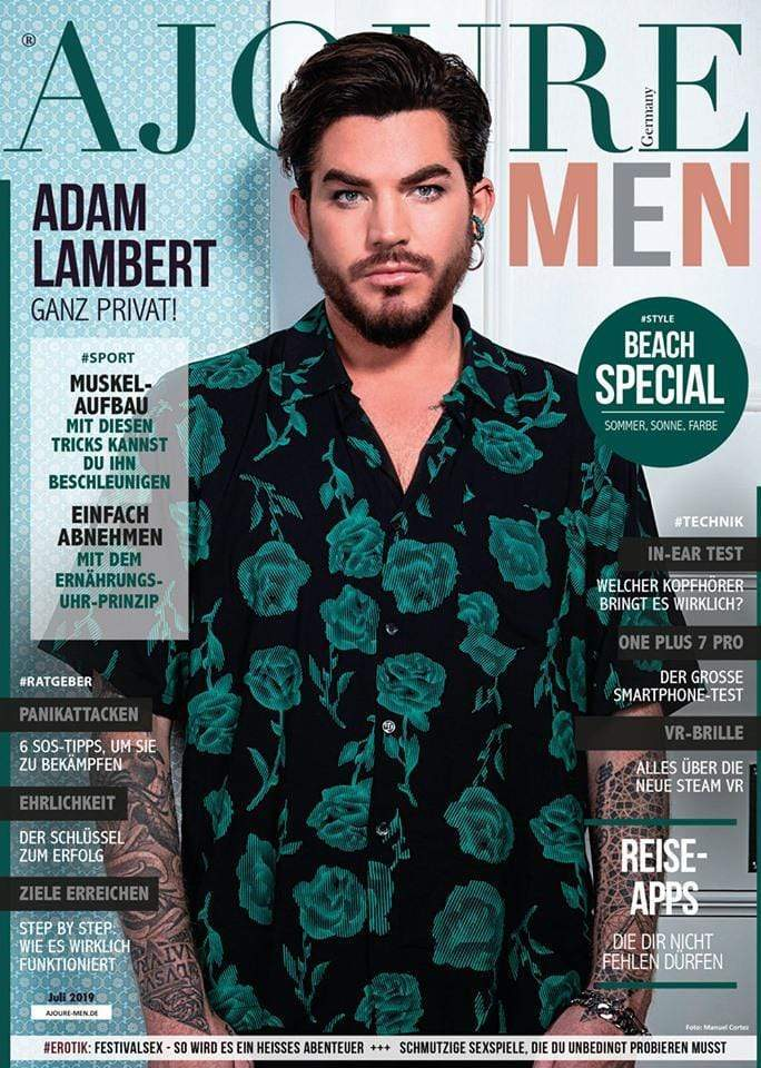 July issue of our ajouré ' Men Germany Featuring AJT Jewellery Pharaoh Ring Worn by Adam Lambert