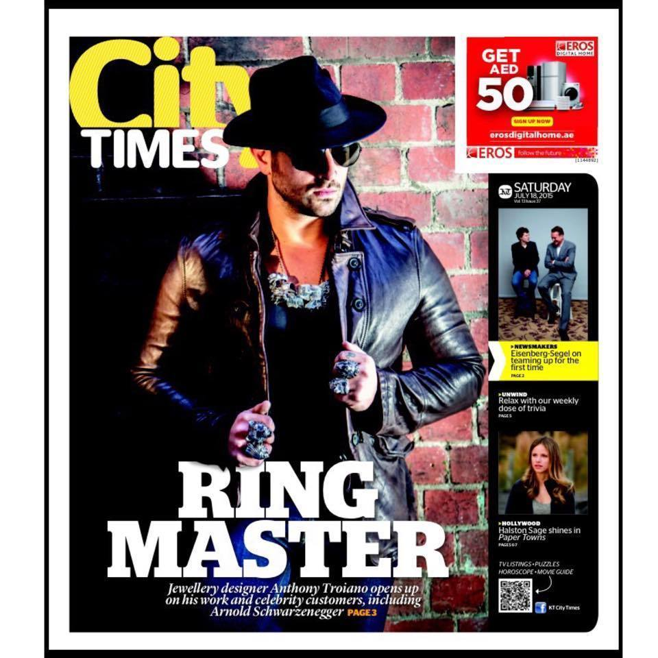 Jewellery designer to the stars Anthony Troiano speaks to City Times about his passion.