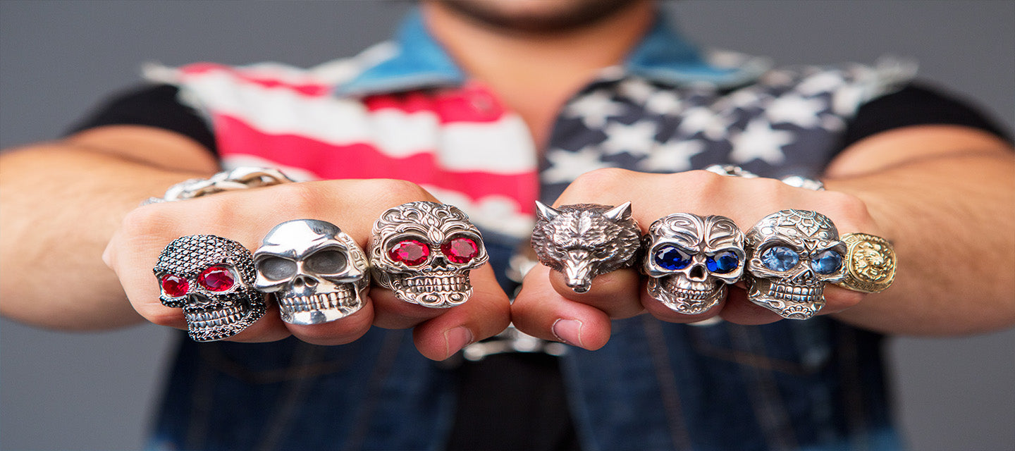 ajt jewellery skull rings