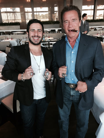 Arnold Schwarzenegger and Anthony Troiano Skull Ring AJT Jewellery