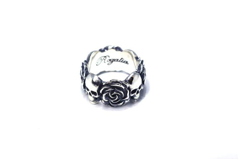 Rozalia Rose Skull Ring By Christina