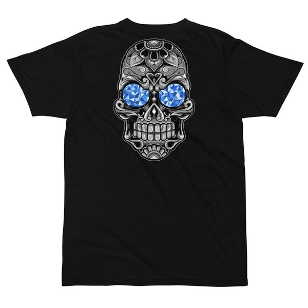Blue Calavera Skull T Shirt-Apparel-AJT Jewellery