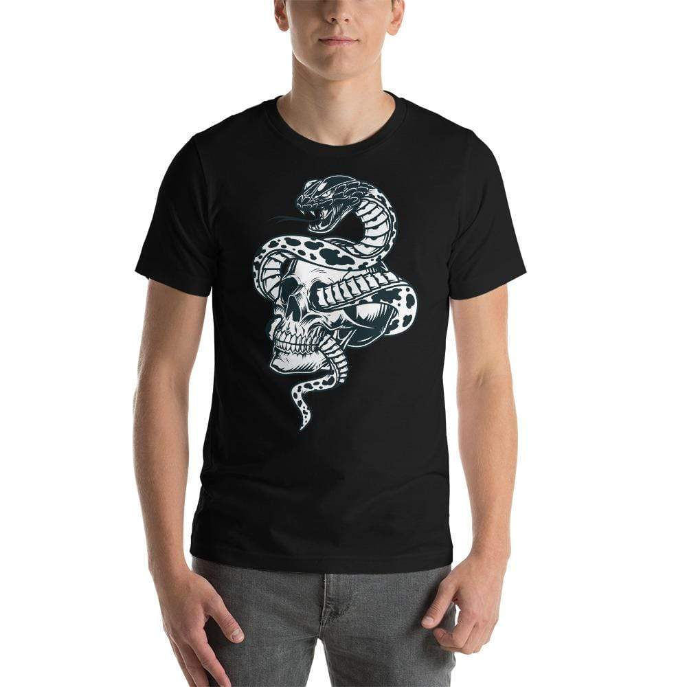 Snake Skull Short-Sleeve T-Shirt-Apparel-AJT Jewellery