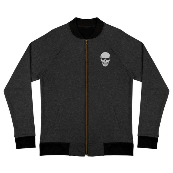 AJT Skull Logo Embroidery Bomber Jacket-Apparel-AJT Jewellery