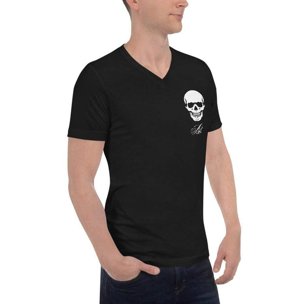 AJT Skull V-Neck T-Shirt-Apparel-AJT Jewellery