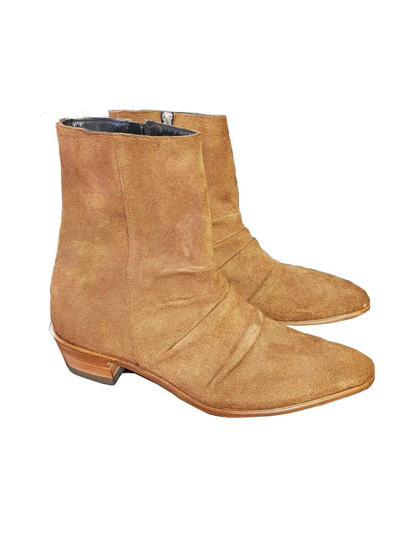AJT Official Tan Suede Boots-Belt-AJT Jewellery