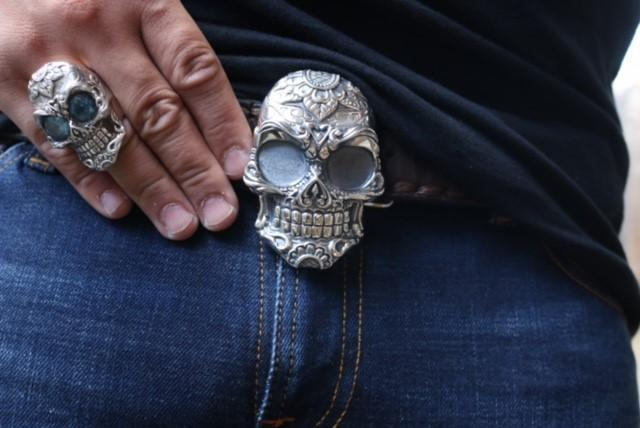 Calavera Skull Belt Buckle - AJT Jewellery