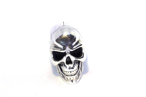 Silver Anatomical Skull Ring-Ring-AJT Jewellery