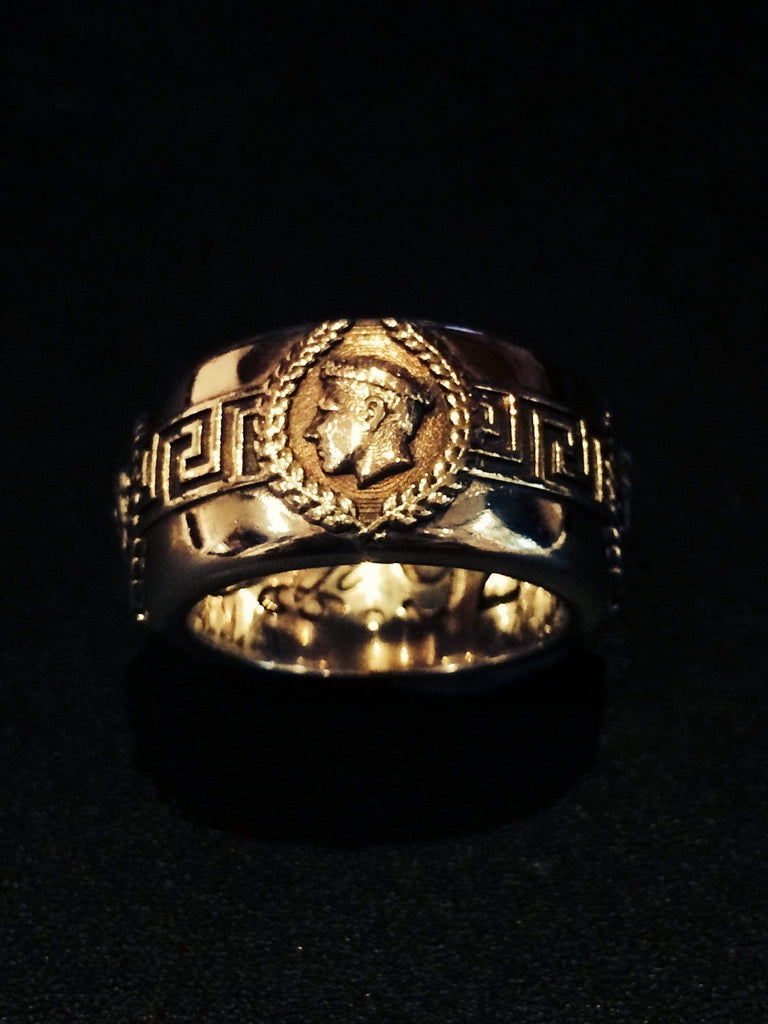 Gold Roman Ring - AJT Jewellery