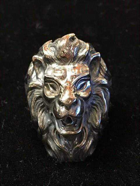 King Lion Ring Sterling Silver - AJT Jewellery