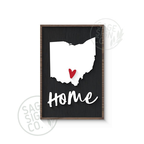 Personalized Home State Map with Heart