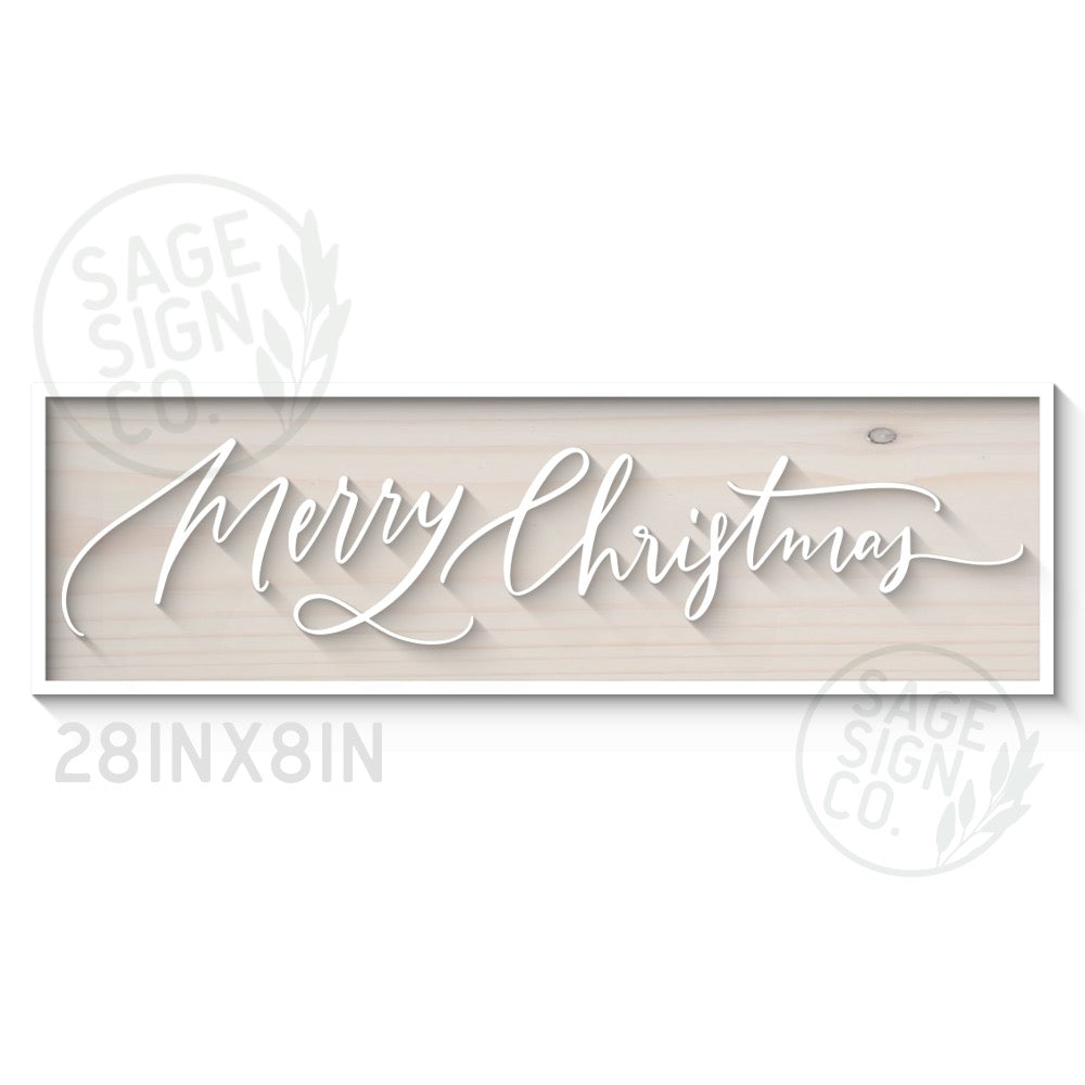 Lasercut Merry Christmas Handscript - Wood Artwork