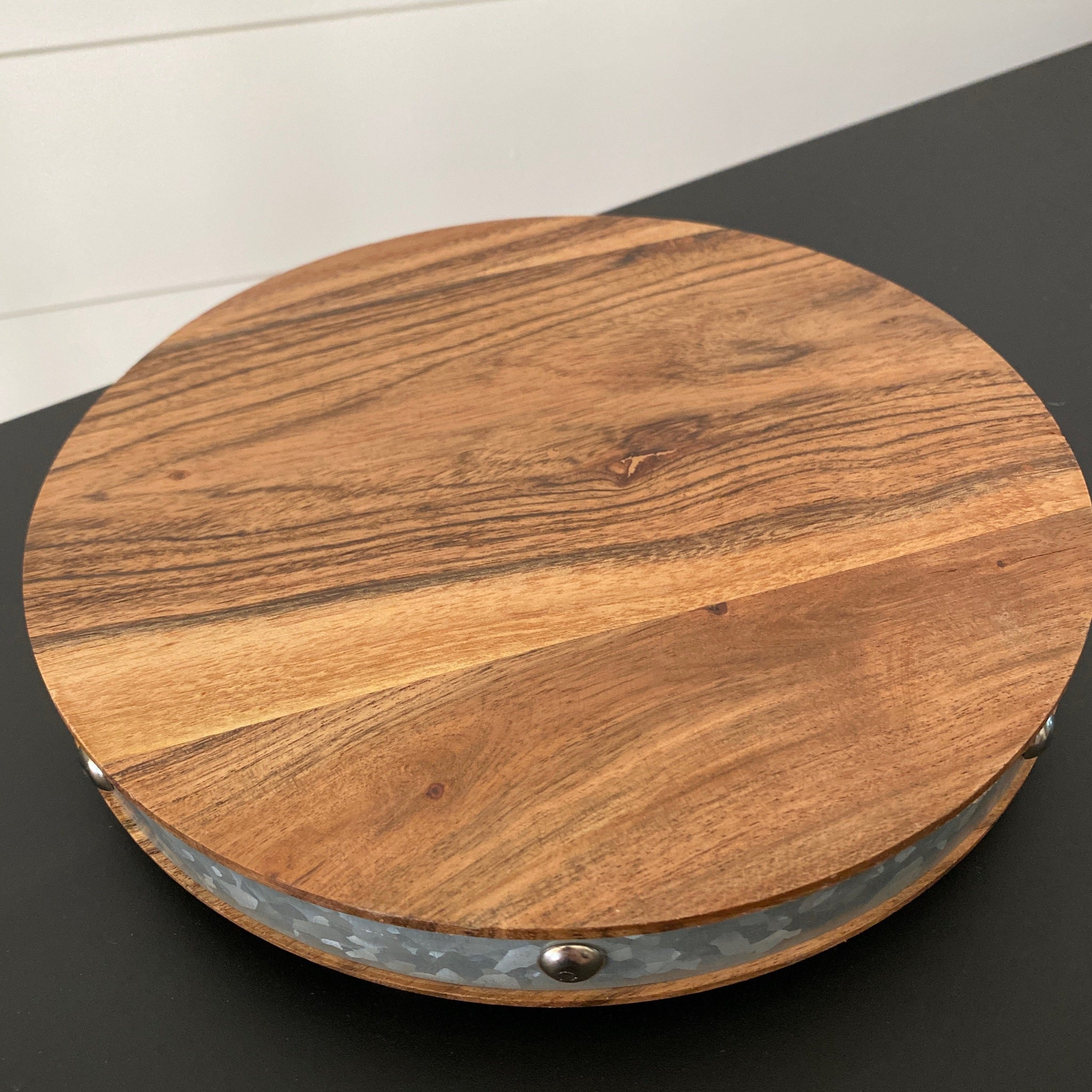Wood Cake Stand with Knob Pedestal - Engraved - SageSignCo