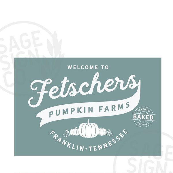 Personalized Printed Old Country Pumpkin Farms - SageSignCo