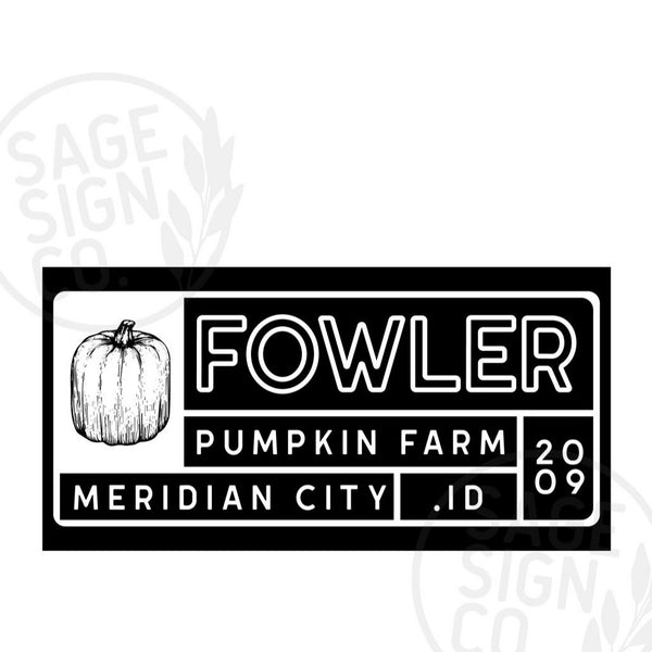 Personalized Printed Throwback Pumpkin Farm - SageSignCo
