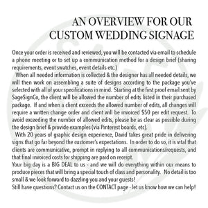 Custom Wedding Package - 6 signs