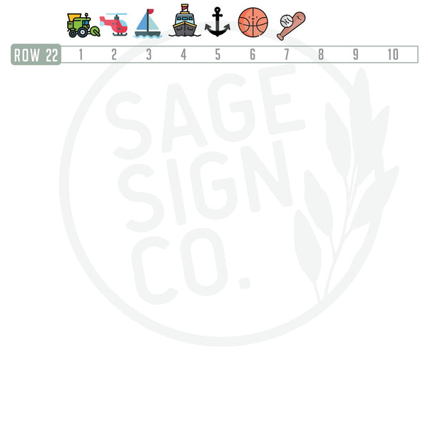 CUSTOMIZE IT ! Round Nursery Sign with Icon(s) - Two Names - SageSignCo