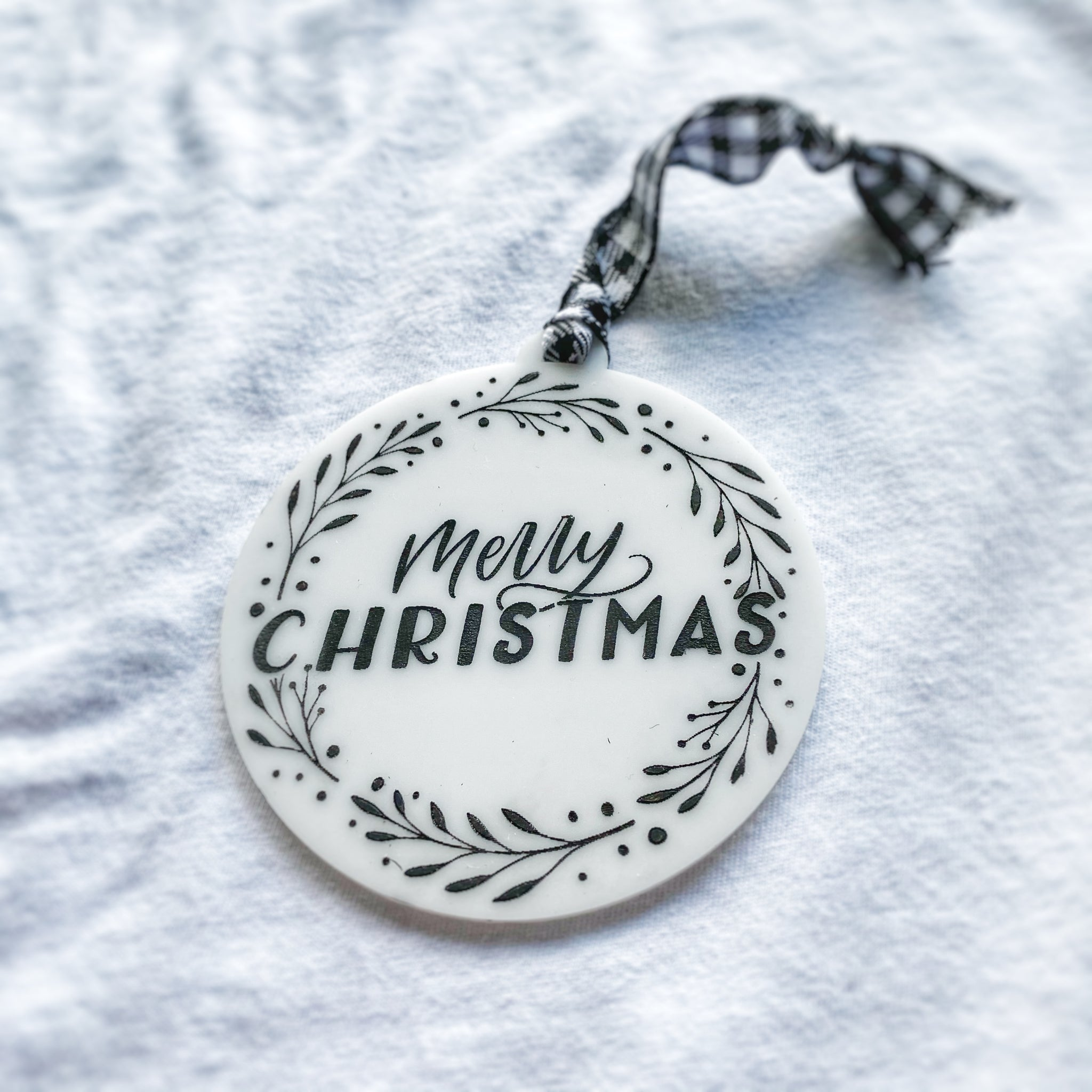 Merry Christmas Wreath Ornament