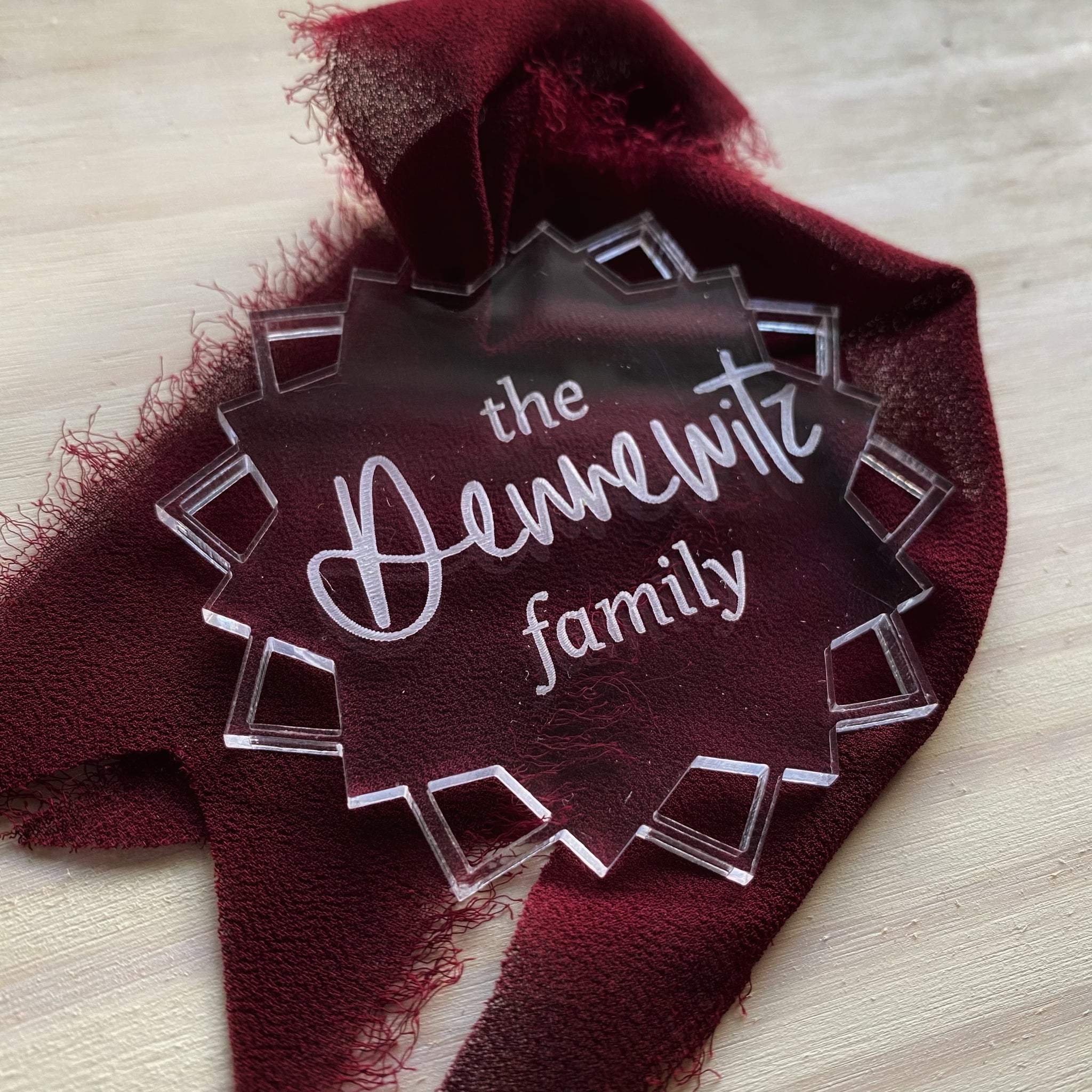 Personalized Starburst Ornament